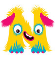 cartoon capital letter n from monster alphabet vector image vector image