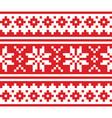 christmas scandinavian long seamless design vector image vector image
