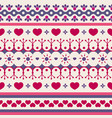 cute seamless pattern for valentines day vector image vector image