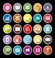 Data and information flat icons with long shadow vector image vector image