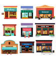 different shop icons vector image vector image