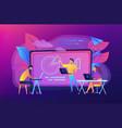digital classroom concept vector image vector image