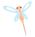 dragonfly flying on white background vector image vector image