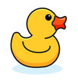 drawing with yellow rubber duck vector image