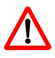 exclamation traffic sign isolated vector image vector image