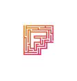f maze letter logo icon design vector image