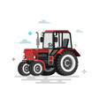 flat tractor vector image vector image