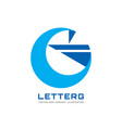 g letter - business logo template concept vector image vector image