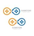 gamepad logo Joystick symbol or icon vector image