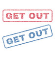get out textile stamps vector image vector image