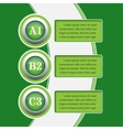 green infographics banners - design templates vector image