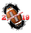 happy new year 2019 and football ball vector image