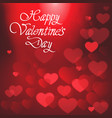 happy valentines day poster with handwritten vector image