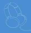headphones continuous line concept vector image