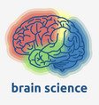 human brain science themed design graphic vector image vector image
