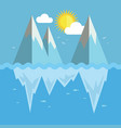 iceberg flat graphic design vector image