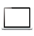 laptop display screen isolated on white background vector image vector image