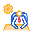 leader sit gear icon outline vector image vector image