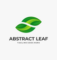 logo abstract leaf gradient colorful vector image