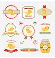 mango set of label design vector image