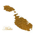 map island malta silhouette with vector image