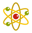 nucleus and orbiting electrons icon isolated vector image vector image