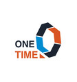 one time sign vector image