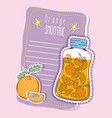 orange smoothie juice vector image vector image