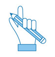 pencil hand holding vector image