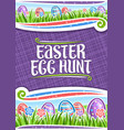 poster for easter egg hunt vector image vector image