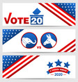 presidential election 0f usa 2020 vote voting vector image vector image