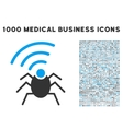 Radio Spy Bug Icon with 1000 Medical Business vector image vector image