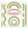 Rainbows different shape set Real Rainbow vector image vector image