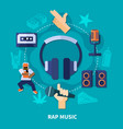 rap music round composition vector image