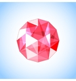realistic ruby gem jewel vector image