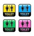 Restroom symbols vector image vector image