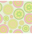 round geometric flower vector image vector image