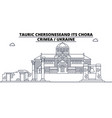 russia - crimea tauric chersonese and its chora vector image vector image