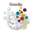 school doodle cartoons vector image