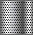 seamless chrome grid metal background vector image vector image