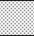 seamless monochrome simple geometric snow flake vector image vector image