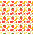 seamless pattern bright textured fruit on a vector image