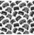 seamless pattern with black cars vector image