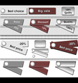 set best labels grey metallic and brown color vector image
