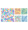 set bright color triangles simple pattern on vector image vector image