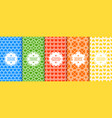set of colorful seamless patterns with vector image