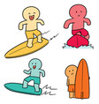 set of surfer vector image