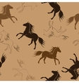 The running horses vector image