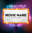 Theater sign vector image