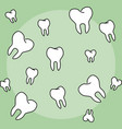 tooth dental background vector image